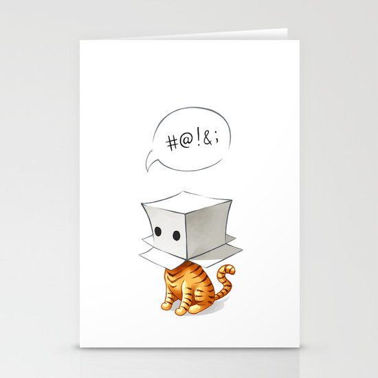 Cat in the Box 2 Stationery Cards