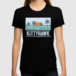 Retro Kittyhawk North Carolina Tropical Sunset Beach T-shirt