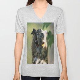 Owl in the light Unisex V-Neck