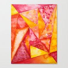 Warm Triangles Canvas Print