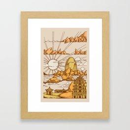 TEMPLES OF HAMPI Framed Art Print
