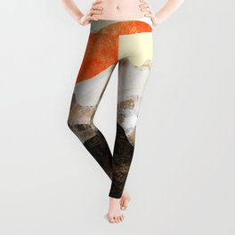 Marbled mountains by sunset Leggings