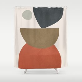 Abstract Balancing Stones Shower Curtain