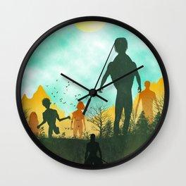 Attack on Titan Silhouette Wall Clock