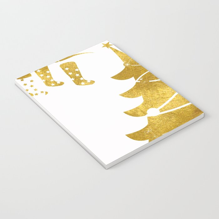 Gold Christmas 03 Notebook