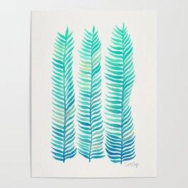 Seafoam Seaweed Poster