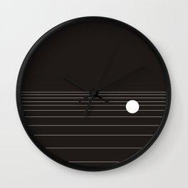 Calm water Lake Moon Minimal Wall Clock