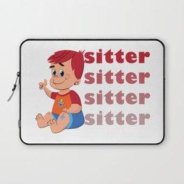 Babysitter Babyboy Boy Laptop Sleeve