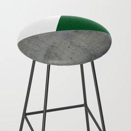 Concrete Festive Green White Bar Stool