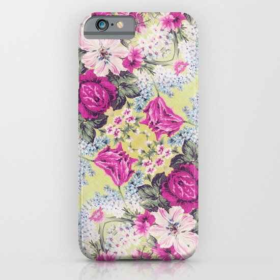 Trendy Vintage Purple Teal Floral Fashion Pattern iPhone & iPod Case
