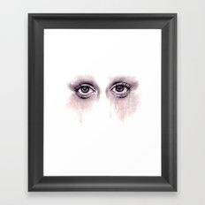 Bloodshot Eyes Doodle  Framed Art Print