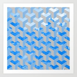 Pattern over palace in Kyoto Art Print