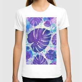 monstera leaves tropical 4 T-shirt