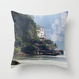 Yangtze River Village China 2 Throw Pillow