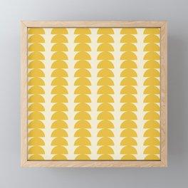 Maude Pattern - Golden Framed Mini Art Print