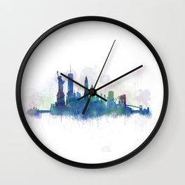 NY New York City Skyline Wall Clock