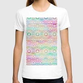 Boho style geomatric and flower vintage pattern T-shirt