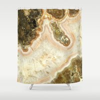 agate Shower Curtains featuring Pink Agate by D. S. Brennan Photography