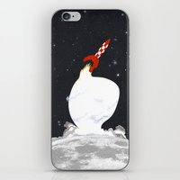 tintin iPhone & iPod Skins featuring Destination Moon by Calvin Wu