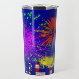America 4th of July Fireworks Travel Mug