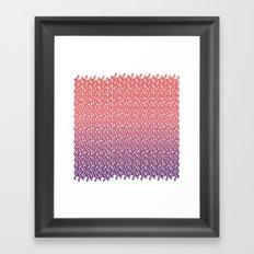Knit Pattern 02 Framed Art Print