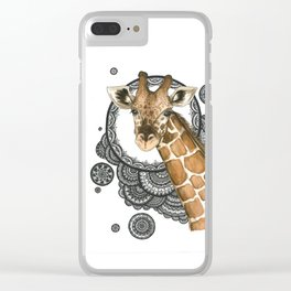 Giraffe mandala Clear iPhone Case