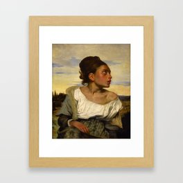 "Eugène Delacroix ""Jeune orpheline au cimetière (The Orphan Girl at the cemetery)"" Framed Art Print"
