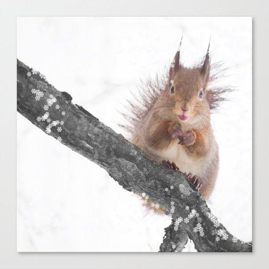 Little squirrel - smack! Canvas Print
