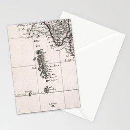 Vintage Maldives Map (1784) Stationery Cards