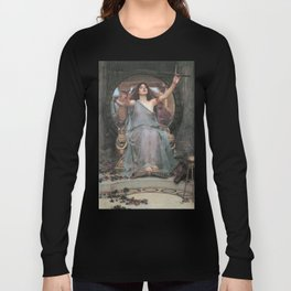 Circe Offering the Cup to Ulysses, John William Waterhouse Long Sleeve T-shirt