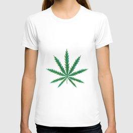 Marijuana. Cannabis leaf  T-shirt