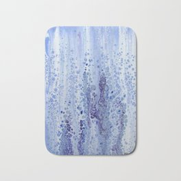 Acrylic Pour Blue Bath Mat