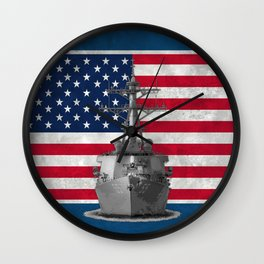 Arleigh Burke Destroyer Wall Clock
