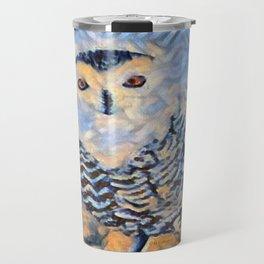 """"""" Snowy Owl """" Travel Mug"""