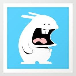 Screaming Rabbit Art Print
