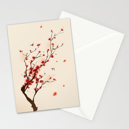 Oriental plum blossom in spring 005 Stationery Cards
