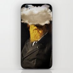 The inability of men with golden faces to be photographed without cloud. iPhone & iPod Skin