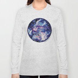 Nebula Planet with Seed of Life Long Sleeve T-shirt