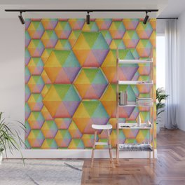 Rainbow Facets Wall Mural