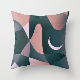 Nightly Cave Stay Throw Pillow
