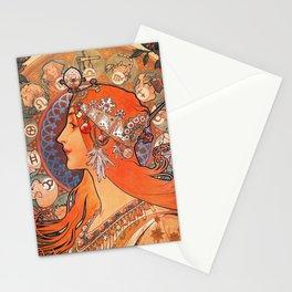 Alphonse Mucha Cycles Perfecta Stationery Cards