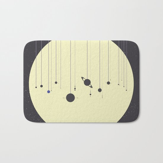 Solar System (you are here) Strings Bath Mat