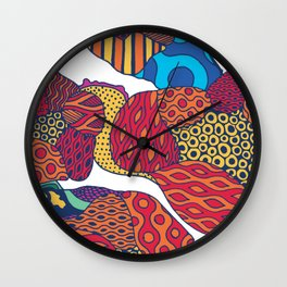 Harajuku style garden Wall Clock