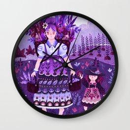 Ultra Violet Garden Wall Clock
