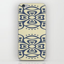 Blue On White Boho Design iPhone Skin
