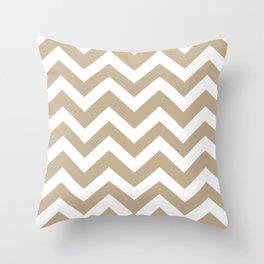Khaki (HTML/CSS) (Khaki) - grey color - Zigzag Chevron Pattern Throw Pillow