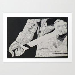 Hockey Hands Art Print