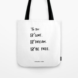 "A Daily To Do List - Design #4 of the ""Words To Live By"" series Tote Bag"