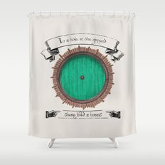 There lived a hobbit Shower Curtain