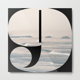 Nr. 9 | Numbers with a View | Typography Letter Art Metal Print